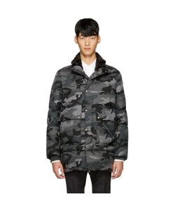 Moncler Gamme Bleu | Grey Quilted Down Camo Jacket