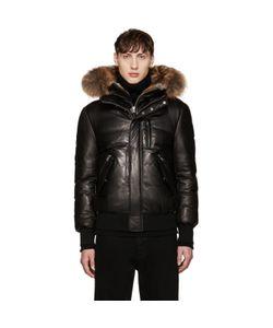 Mackage   Leather Down Glen Jacket