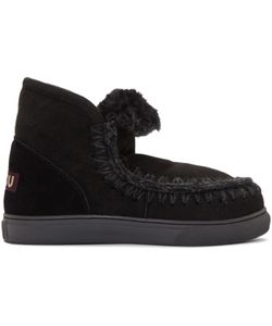 Mou   Black Mini Eskimo Boots