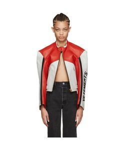 VETEMENTS | Tricolor Leather Racing Jacket
