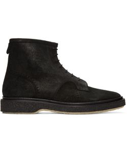 Adieu | Black Waxed Suede Type 22 Boots