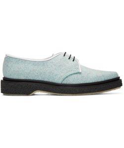 Adieu | Blue Felted Wool Derbys
