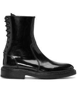 Yang Li | Black Lace-Up Boots