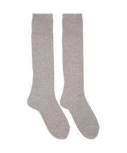 Hyke   Grey Knit Socks