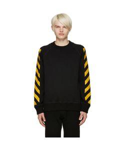 Moncler O   Black Striped Sleeves Sweatshirt
