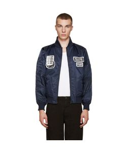 Perks And Mini | Navy Psilocybe Bomber Jacket
