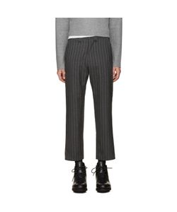 Nanamica | Grey Wool Pinstripe Trousers