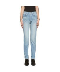 Saint Laurent   Blue 80s Carrot Fit Jeans