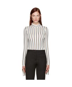 AALTO | White Striped Turtleneck