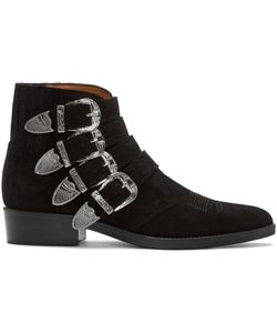 TOGA VIRILIS | Suede Western Buckle Boots