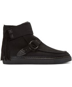 TOGA VIRILIS   Nubuck Western High-Top Sneakers