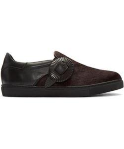 TOGA VIRILIS   Calf-Hair Western Slip-On Sneakers