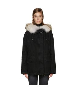 Army by Yves Salomon | Fur-Lined Denim Coat