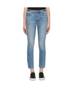 Helmut Lang | High-Rise Fray Crop Jeans
