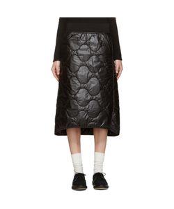 Hyke   Quilted Nylon Miniskirt