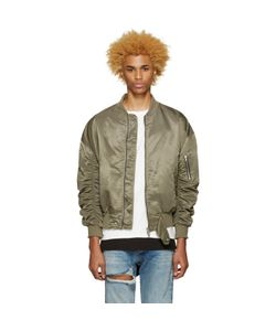 FEAR OF GOD | Exclusive Green 4th Collection Bomber Jacket