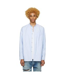 FEAR OF GOD | Exclusive Blue Mandarin Oxford Shirt