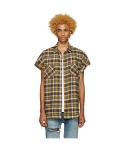 FEAR OF GOD | Exclusive Green Flannel Sleeveless Shirt