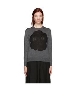 Tricot Comme des Garçons | Intarsia Flower Pullover