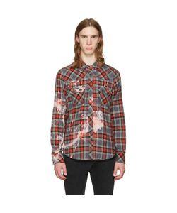 Herman | Bleached Plaid Western Shirt