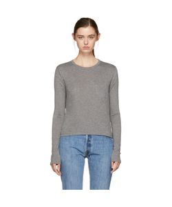 T By Alexander Wang | Long Sleeve Classic Cropped T-Shirt