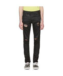 OFF-WHITE | Slim Rips Diagonal Jeans