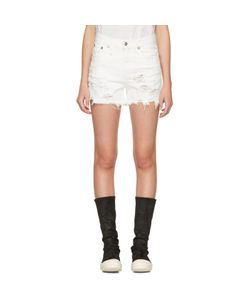 R13   Shredded Denim Slouch Shorts
