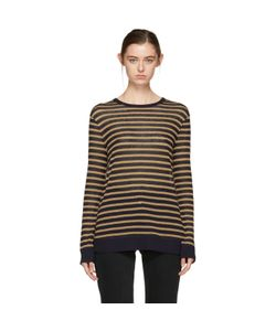 T By Alexander Wang | And Tan Long Sleeve Striped T-Shirt