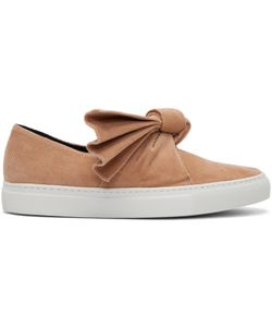 Cedric Charlier | Corduroy Bow Slip-On Sneakers
