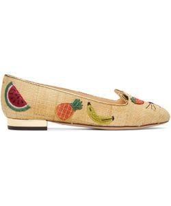 Charlotte Olympia | Raffia Fruit Kitty Flats