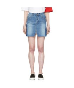 SJYP | Denim Cut-Off Miniskirt