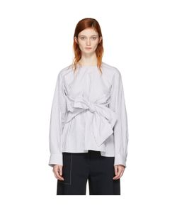 Cyclas | Striped Front Bow Blouse