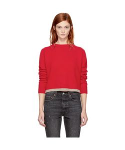 The Elder Statesman | Cropped Cashmere Simple Line Sweater