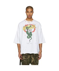 UNRAVEL | Distressed Snake Boxy T-Shirt