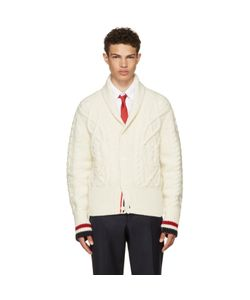 Thom Browne | Aran Cable Shawl Collar Cardigan
