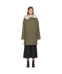 ARMY YVES SALOMON | Classic Long Fur-Lined Parka