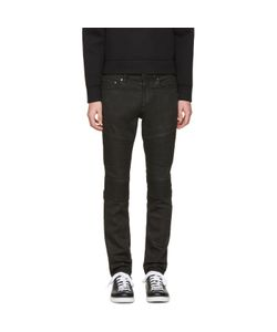 Neil Barrett | Waxed Denim Biker Jeans