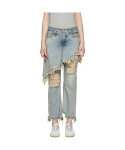 R13 | Double Classic Shded Jeans