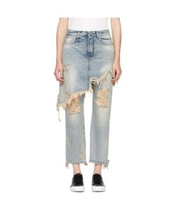 R13 | Double Classic Shredded Hem Jeans