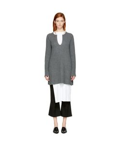 ROSETTA GETTY | Cashmere Slit Front Sweater