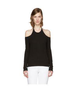 ROSETTA GETTY   Off-The-Shoulder Halter T-Shirt