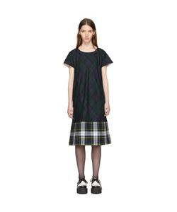 Tricot Comme des Garçons | And Navy Tartan Check Dress