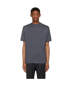 Lanvin | Striped Mock Neck T-Shirt