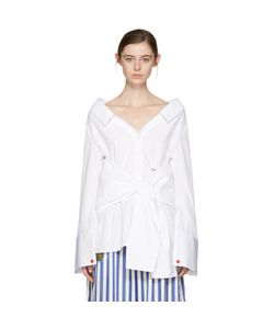 OFF-WHITE   Long Sleeve Off-The-Shoulder Shirt