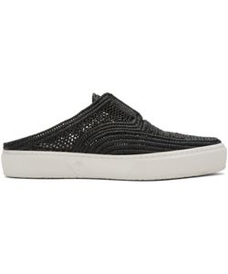 Robert Clergerie   Teller Straw Stitch Slip-On Sneakers