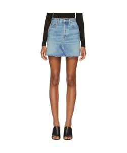 RE-DONE | Originals High-Rise Rigid Denim Miniskirt