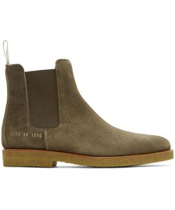 Common Projects | Waxed Suede Chelsea Boots