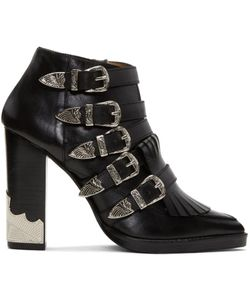 Toga Pulla | Heeled Five-Buckle Western Boots