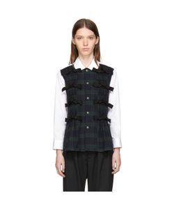 Tricot Comme des Garçons | And Check Front Ties Shirt