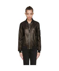 Mackage | Leather Val Bomber Jacket